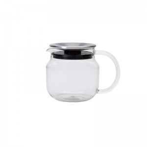 Theepot glas ONE TOUCH - 450ml INOX