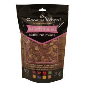 Houtsnippers OAK GRITS - 360g - Cook in Wood