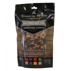 Houtsnippers OAK CHIPS - 360g - Cook in Wood