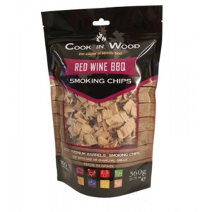 Houtsnippers RED WINE CHIPS - 360g - Cook in Wood