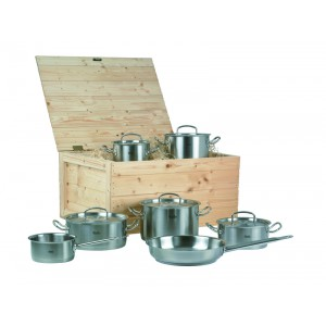 Set Fissler Pro Collection 7-delig met houten koffer