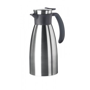 Thermos 1l INOX/ZWART Soft Grip