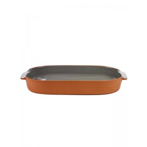 Ovenschaal ovaal L - ANTHRACITE - 450x260x60mm