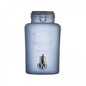 Drankendispenser rond - 5l - Frosted BLAUW