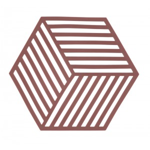 Potonderzetter hexagon SIENA RED