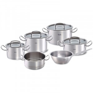 Set Fissler Pro Collection 6-delig met glasdeksel