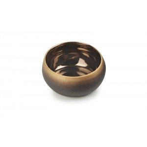 Bowl ZWART/GOUD Ø126xH56mm - 0,4l - Solstice Sunset Gold