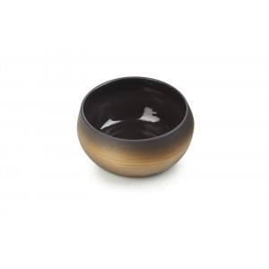 Bowl ZWART/GOUD Ø126xH56mm - 0,4l - Solstice Sunrise Gold
