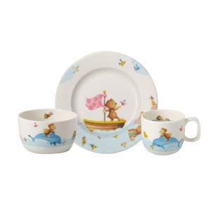 Kinderset porselein - Happy as a Bear - 3-delig