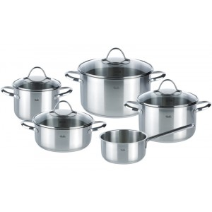 Set Profi 5-delig Paris - pot 16/20/24, pan 20, stlpan 16cm