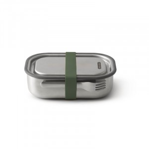 Lunchbox inox OLIVEGREEN 200x150x65mm