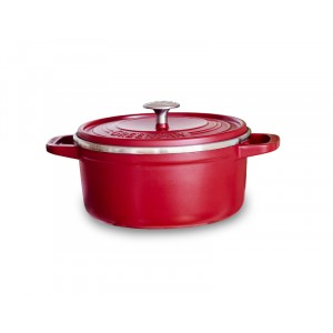 Cocotte rond Ø26cm - 5,2l - ROOD - Featherweights