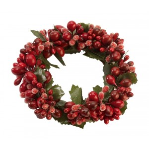 Kaarsring red berries Ø100mm - Winter Collage Accessoires