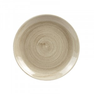 Bord rond Ø217mm - ANTIQUE TAUPE - Stonecast Patina