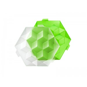 "Ice cube XL ""Hexagone"" - 7 ijsblokken - GROEN"