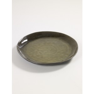 """""""Pure"""" Bord rond M 28x2,8 GROEN/st"""