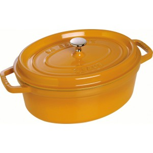 Cocotte ovaal Ø29cm - 4,2l - MOSTERD