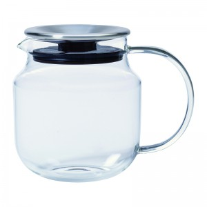 Théière verre ONE TOUCH - 0,62ll INOX