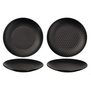 Assiettes NOIR/COMP/PIKEE Ø203mm - 2 pcs - Black Tea