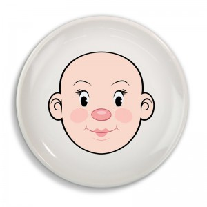 "Assiette enfant ""Mrs Food Face"" - Dinner Winner"