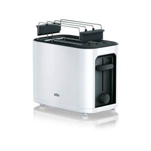 Toaster BLANC 1000W - 2-ouvertures