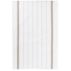 Serviette BLANC/TAUPE 700x500mm - Classis Rayures