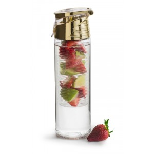 Bouteille d'eau infusion TRANSPARENT/OR Ø70mmx245mm 0,75l
