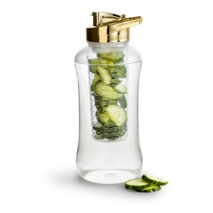 Bouteille d'eau infusion TRANSPARENT/OR Ø110mmx280mm 1,8l