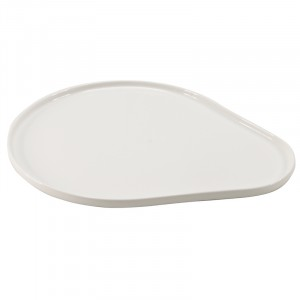 Assiette BLANC 350x280x15mm - Moments