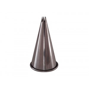 Douille 5mm cannel. 6 dents INOX