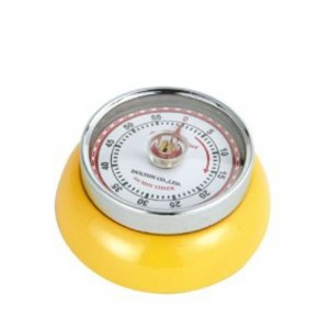 Timer speed retro Ø70mm - JAUNE